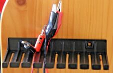 Cable de prueba de clavija de punta cónica Enchufe Pinza Cocodrilo Titular de plomo de Prueba de Sonda 13.5 Cm Negro