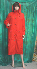 FOUR SEASONS Lady's lovely red Nylon rubber backed Polly fashion raincoat + hood