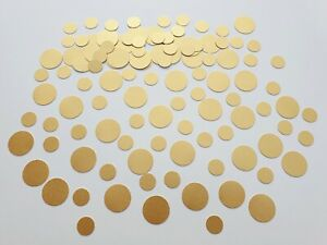 Gold Circle Round Confetti Metallic Table Decor Sprinkles