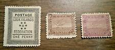 British Oceania: Cook Islands - Scotts # 1, 19 & 22 - issued in 1892 & 1898