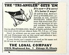 1947 Print Ad Tri-Angler Fishing Lures Lonal Co. Chicago,IL