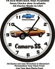 1972 CHEVROLET CAMARO SS WALL CLOCK-FREE USA SHIP!