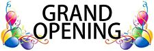 """Grand Opening balloons Outdoor Banner 36"""" X 108"""" long lasting"""