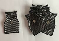 Embroidered Card Making Crafts Motifs Star Sequin Beaded Banner#6R17 Set of 10