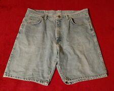 Men's Wrangler Light Wash Blue Jean Denim Shorts Size 36