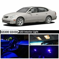 15x Blue Interior LED Lights Package Kit for 1998-2005 Lexus GS300 GS430