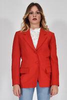 MOSCHINO CHEAPANDCHIC Giacca Moderna Rosso Taglia 44 Donna Woman