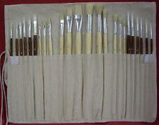 Savannah Artists Brush Set 24 Piece in Canvas Roll
