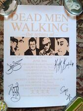 More details for *signed* dead men walking poster. ruts, spear of destiny, stiff little fingers
