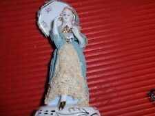 VINTAGE FRILLY AND LACY PORCELAIN LADY FIGURINE