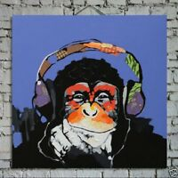 Modern Abstract Canvas Oil Painting Wall Decor Art HandPainted Ape No Frame #a01