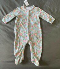 Baby Girl 3-6 Months Baby Gap Multicolor Spring Flower Snap One Piece Sleepwear