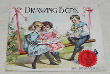 1897 Seal Brand Chase & Sanborn Tea Coffee Advertising Drawing Book Color Litho