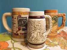 Set Of 3 Vintage Beer Steins Budweiser, Japan, Avon