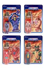 REACTION HE-MAN MASTERS OF THE UNIVERSE ACTION FIGURE WAVE 1 SET OF 4 IN STOCK