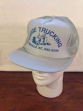 Gouge Trucking Burnsville NC Mens Gray Polyester Trucker Snapback Cap