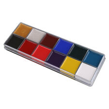 12 Colors Face Body Paint Oil Painting Make Up Halloween Party Kit Set
