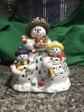 Partylite Snowbell Snowman Tealight Holder Beautiful Never Used Free Shipping!