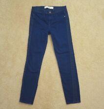 Abercrombie Womens Cropped Capri Skinny Jeans Size 00 Royal Blue Pants
