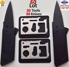 30 Credit Card Knives,11 in 1 multi tool 30 Bulk Lot wallet thin pocket survival