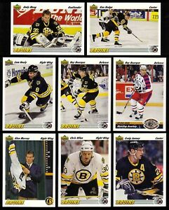 1991-92 Upper Deck Boston Bruins Team SET (32) Bourque Glenn Murray RC Zholtok