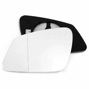 Left side mirror glass with clip for BMW 5 F10 F11 10-16 Heated Aspherical
