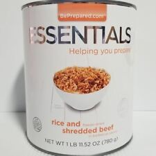 Emergency Essentials Freeze Dried Food Rice & Shredded Pork in BBQ Sauce #10 Can