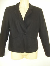 George Perfectly Petite Womens Black Tailored Linen Blend Blazer Jacket 6 UK
