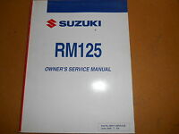 Suzuki 1988 RM125 RM 125Factory Original Owner/'s Manual 05