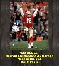 Reprint Joe Montana Autographed San Fransisco 49'ers 8X10 PHOTO Man Cave Sign