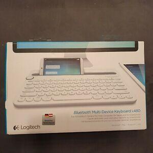 Logitech K480 Bluetooth-Tastatur für Computer, Tablet,Handy, weiß