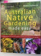 Australian Native Gardening Made Easy, Chadwick (HC 2003) VGC, FREE POSTAGE