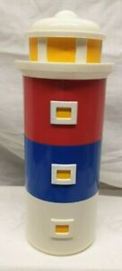 Lighthouse Stackable Coffee, Creamer, Sugar Bowls With Spoons