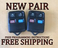 NEW PAIR W/ OEM ELECTRONICS FORD LINCOLN MERCURY KEYLESS REMOTE FOB TRANSMITTER