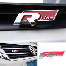 VW R Line Emblem Volkswagen Decal 3D Sticker Car Styling Logo Trunk Cover RLine