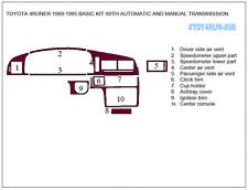 TOYOTA 4 RUNNER 1989-1995 DASH TRIM BASIC KIT 10PCS AUTO AND MANUAL TRANSMISSION
