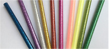 10 Different Color Glitter Hot Melt Glue Adhesive Sticks Glue Gun 8mm X 10cm