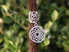Stainless Steel Flower Dangle Dreadlock Bead 8.5mm Hole (5/16 Inch) Dread Beads