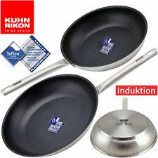 Kuhn Rikon Edelstahl Pfannen Set 24-28 cm Teflon Antihaft Beschichtung Induktion
