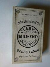 Antique 1820 John Clark Junior Co Clark's Mile-End Spool Sewing Thread Box black