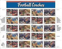 ORLEY US STAMPS # 3143-46 32c Legendary Football Coaches Mint Sheet MNH/OG,