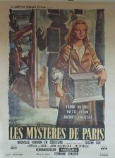 """""""LES MYSTERES DE PARIS (MISTERI DI PARIGI)"""" Affiche ent. Eugène SUE,Yvette LEBON"""
