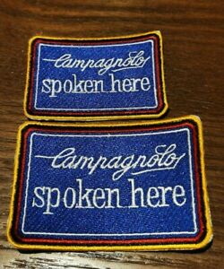 Camapgnolo spoken here Vintage bicycle patch /  campy record collection steel