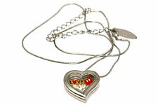 DISNEY HEART LOCKET SILVER NECKLACE FLOATING MICKEY MOUSE HAND PANTS LOVE CHARM