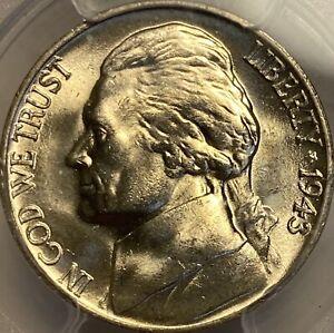 1943-P Jefferson Nickel PCGS MS66 War Nickel Lustrous Gem!