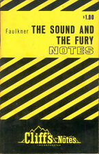 Faulkner The Sound And The Fury Cliffs Notes Cliff Notes Study Guide Book 1970