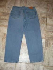 NICE !!  LEVI'S 550 RELAXED 34X29 MEAS 34X28 DENIM BLUE JEANS
