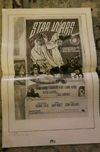 7 Starwars Posters vintage original Re-Release Ad Sheet 1978 Rare Ad Mats
