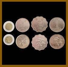 Hong Kong 1 2 5 10 Dollars (4 Pcs Coin Set), 1993-1997 Bimetalic Circulated