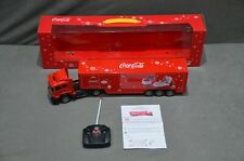 More details for large 50cm coca cola christmas truck remote control front lights santa in box
